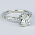 Oval Micro-Pave Engagement Ring with Diamond Gallery (1.20 ct.) - small angle 3