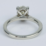 Oval Micro-Pave Engagement Ring with Diamond Gallery (1.20 ct.) - small angle 4