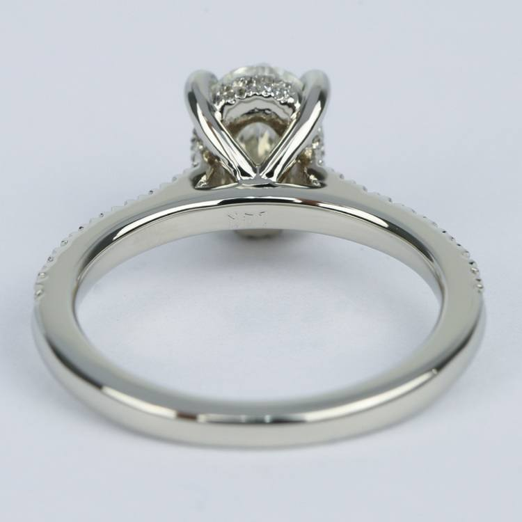 Oval Micro-Pave Engagement Ring with Diamond Gallery (1.20 ct.) angle 4