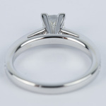 Pave Cathedral 0.76 Carat Princess Diamond Engagement Ring - small angle 4