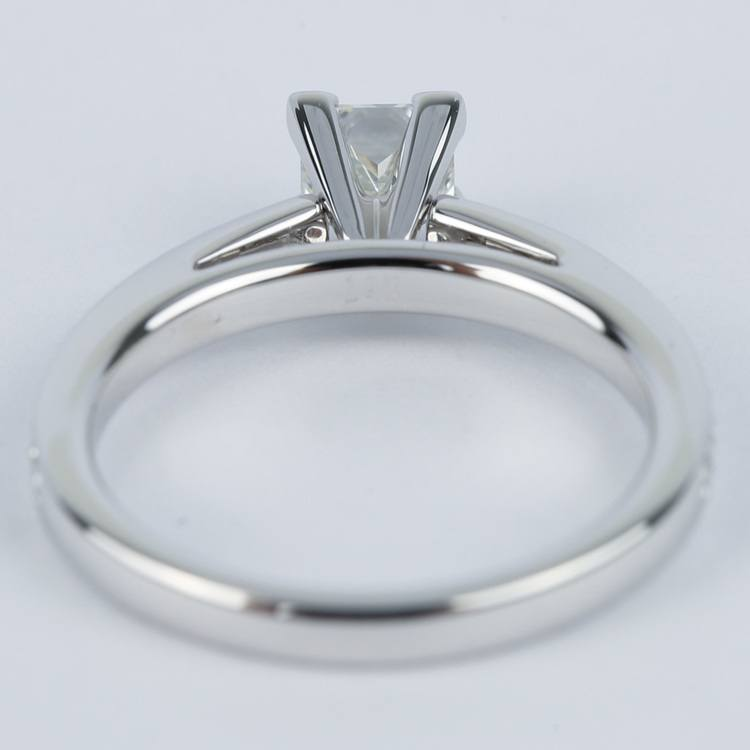 Pave Cathedral 0.76 Carat Princess Diamond Engagement Ring angle 4