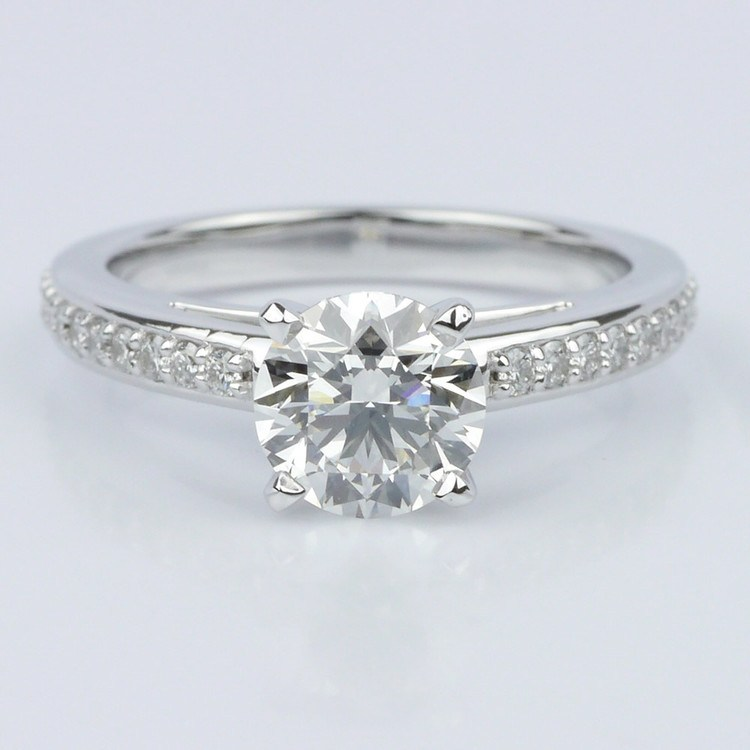 Pave Cathedral Diamond Engagement