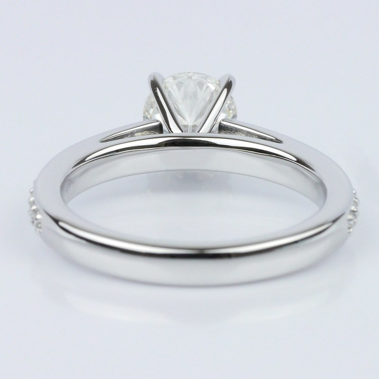 Pave Cathedral Diamond Engagement angle 4
