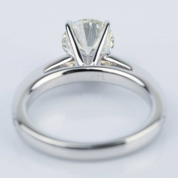 Pave Cathedral Round Cut Diamond Engagement Ring (1.31 ct.) angle 4