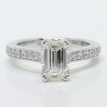 1 Carat Custom Cathedral Emerald Diamond Engagement Ring - small
