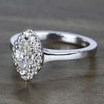 Flawless Marquise Halo Diamond Engagement Ring (0.50 ct.) - small angle 2