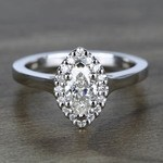 Flawless Marquise Halo Diamond Engagement Ring (0.50 ct.) - small