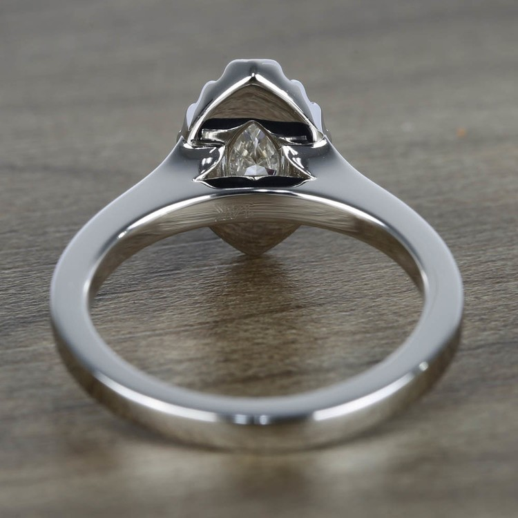 Flawless Marquise Halo Diamond Engagement Ring (0.50 ct.) angle 4