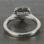 Heart Diamond Pave Halo Engagement Ring (0.72 ct.) - small angle 4
