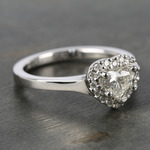 Heart Diamond Pave Halo Engagement Ring (0.72 ct.) - small angle 3