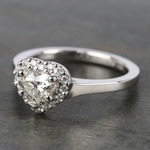 Heart Diamond Pave Halo Engagement Ring (0.72 ct.) - small angle 2