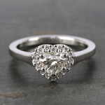 Heart Diamond Pave Halo Engagement Ring (0.72 ct.) - small
