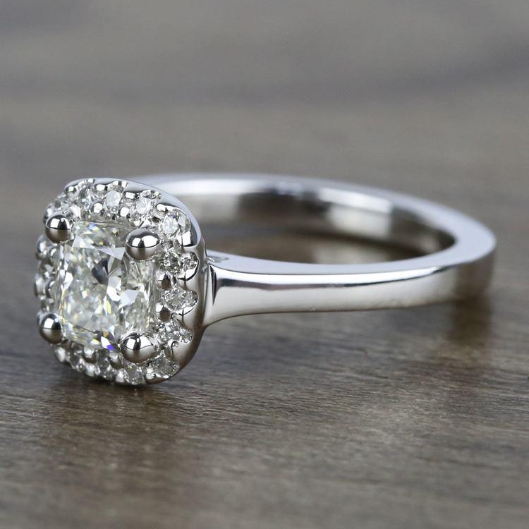 Cushion Halo Diamond Engagement Ring (0.75 Carat) angle 2