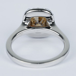 3 Carat Cognac Diamond with Pave Halo Engagement Ring - small angle 4