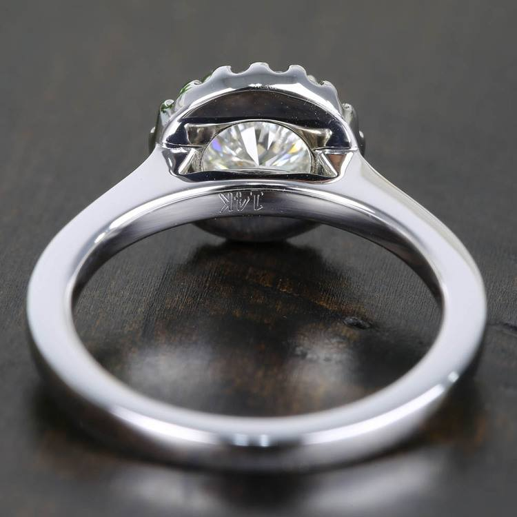 Pave Halo Flawless Diamond Engagement Ring (0.71 ct.) angle 4