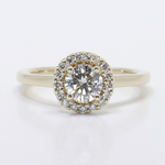 Pave Halo Diamond Engagement Ring - small