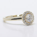 Pave Halo Diamond Engagement Ring - small angle 3