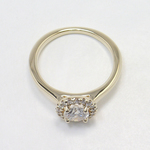 Pave Halo Diamond Engagement Ring - small angle 4