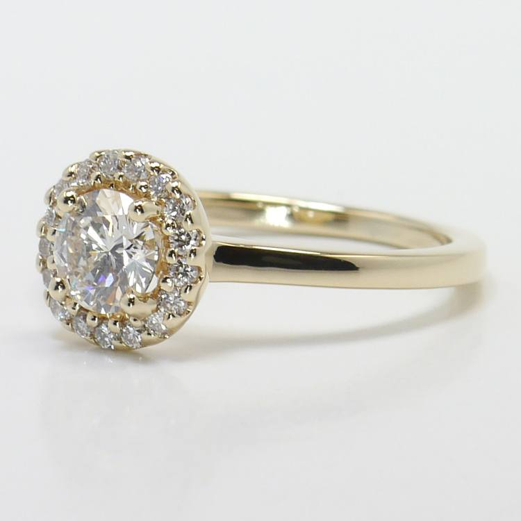 Pave Halo Diamond Engagement Ring angle 2