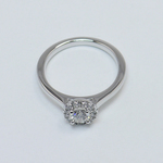 0.39 Carat Pave Halo Round Diamond Engagement Ring - small angle 4