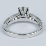 Pave Three-Sided Diamond Engagement Ring (1 Carat) - small angle 4