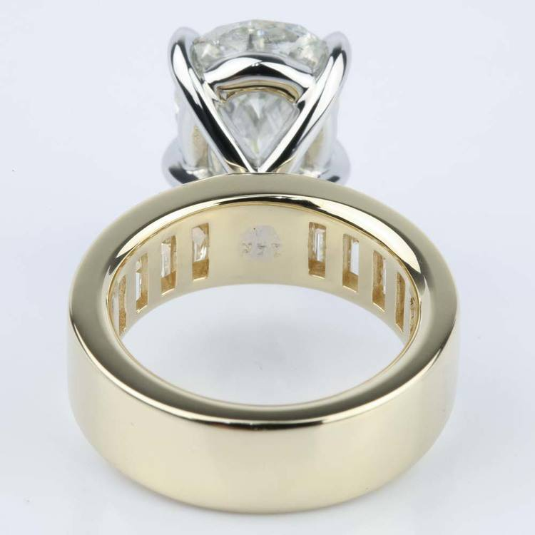Pear Cut Diamond Baguette Engagement Ring (5 Carat) angle 4