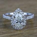 Pear Halo Diamond Engagement Ring (1.50 Carat) - small