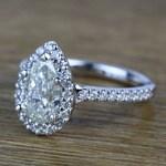 Pear Halo Diamond Engagement Ring (1.50 Carat) - small angle 2