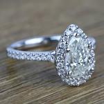 Pear Halo Diamond Engagement Ring (1.50 Carat) - small angle 3