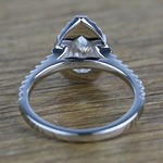 Pear Halo Diamond Engagement Ring (1.50 Carat) - small angle 4