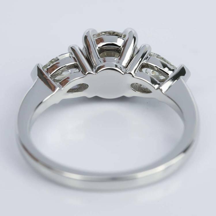 Pear Three-Stone Diamond Engagement Ring in Platinum (0.91 ct.)  angle 4