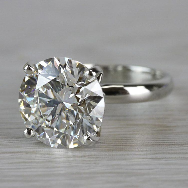 Perfect Paradise Solitaire 5 Carat Diamond Ring angle 2
