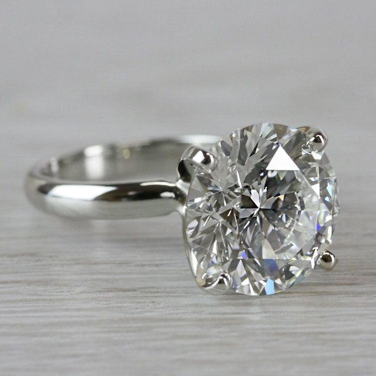 Perfect Paradise Solitaire 5 Carat Diamond Ring angle 3