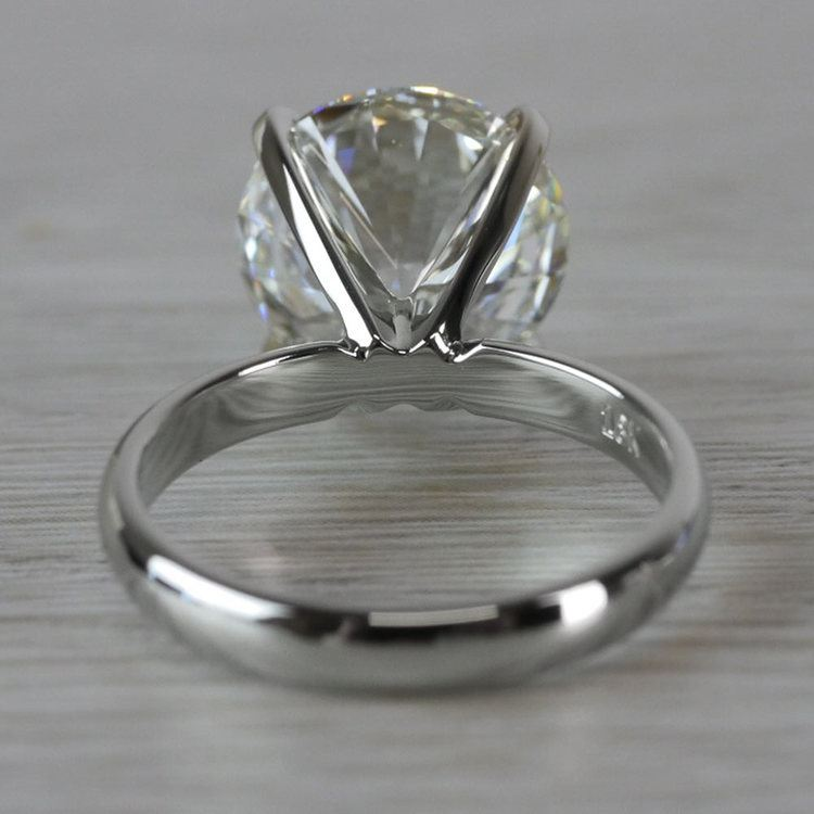 Perfect Paradise Solitaire 5 Carat Diamond Ring angle 4