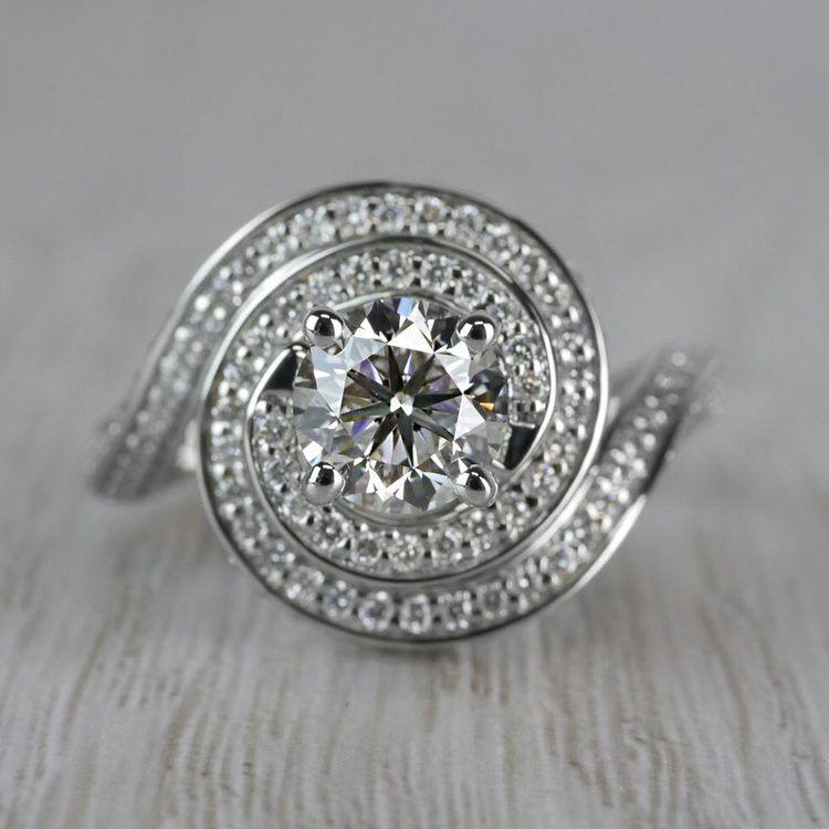 Perfect Swirl Engagement 1 Carat Diamond Ring