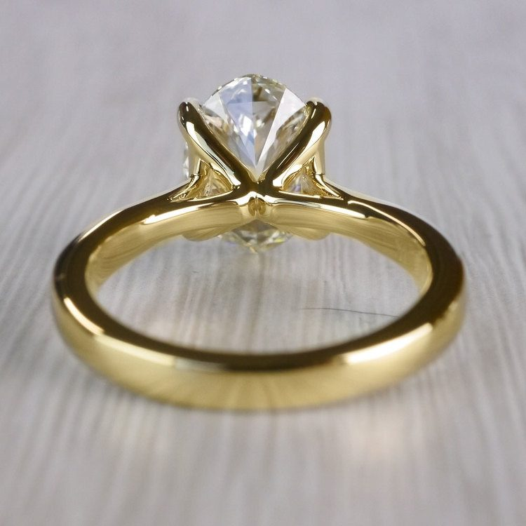 Perfect Taper Solitaire Engagement Oval Diamond Ring  angle 4