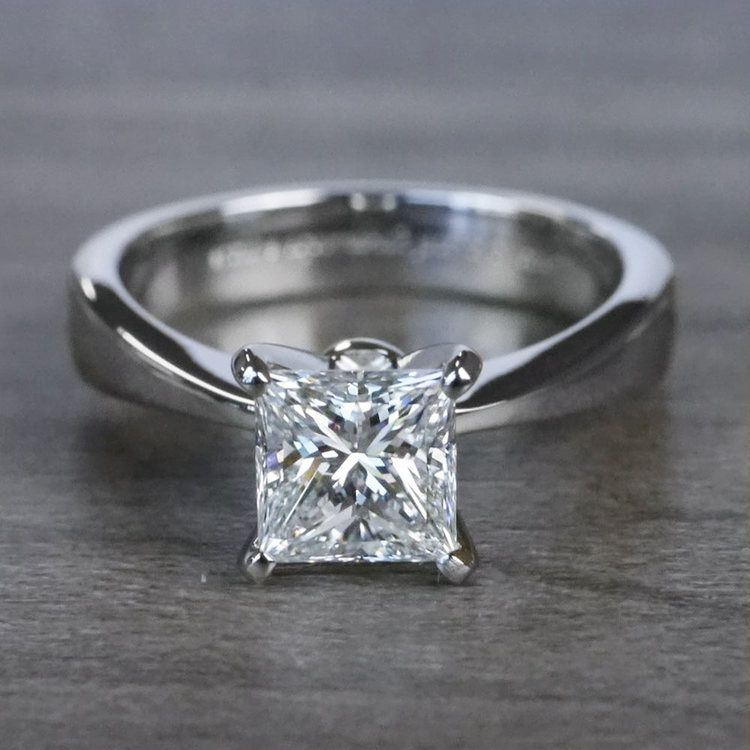 Perfection Princess Cut Diamond Solitaire Engagement Ring