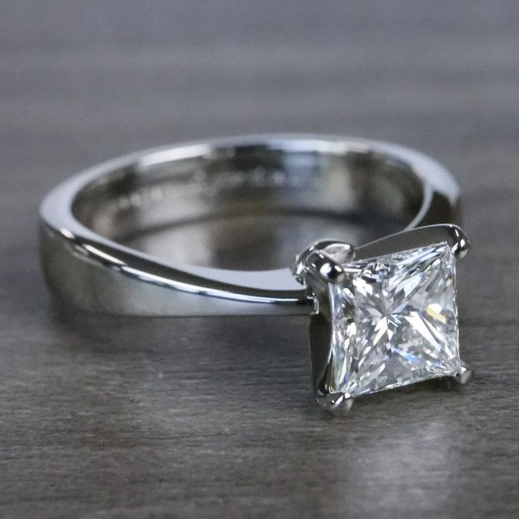 Perfection Princess Cut Diamond Solitaire Engagement Ring angle 3
