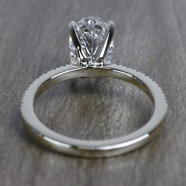 Perfectly Petite Oval Pave 2 Carat Diamond Ring angle 4