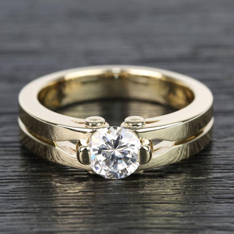 Bolt Tension 0.50 Carat Round Diamond Men's Engagement Ring