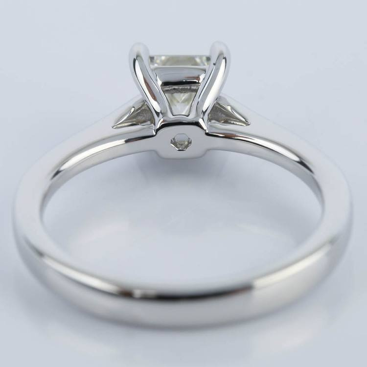 Petite Cathedral 0.70 Carat Princess Diamond Engagement Ring angle 4