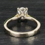 Cathedral Oval Diamond Engagement Ring (1.50 Carat) - small angle 4