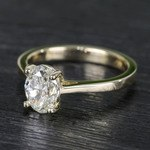 Cathedral Oval Diamond Engagement Ring (1.50 Carat) - small angle 2