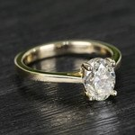 Cathedral Oval Diamond Engagement Ring (1.50 Carat) - small angle 3