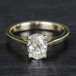 Cathedral Oval Diamond Engagement Ring (1.50 Carat) - small