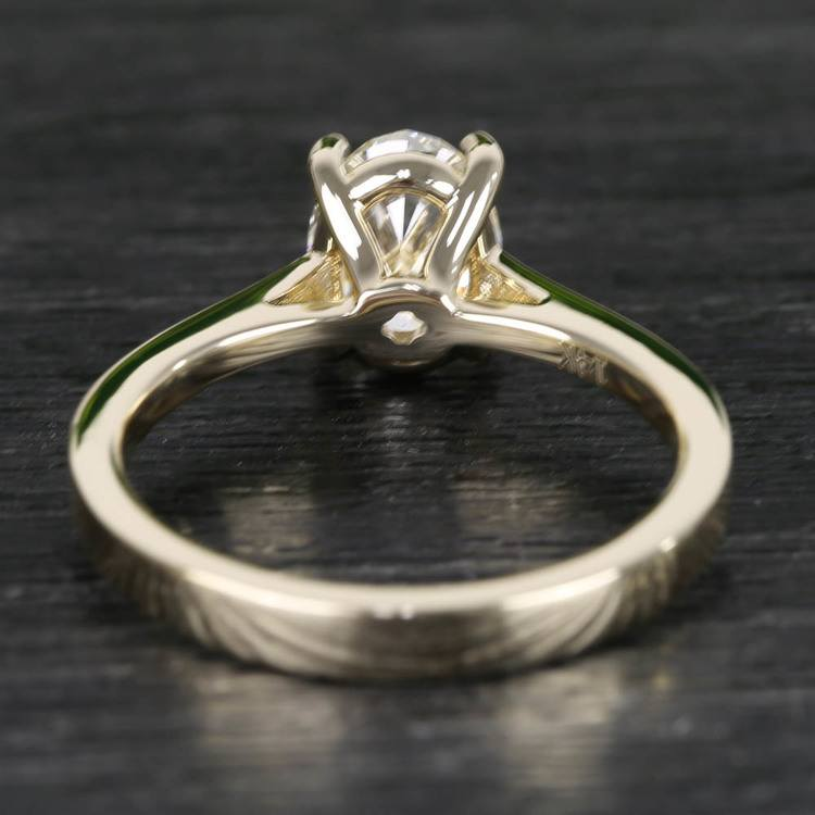 Cathedral Oval Diamond Engagement Ring (1.50 Carat) angle 4