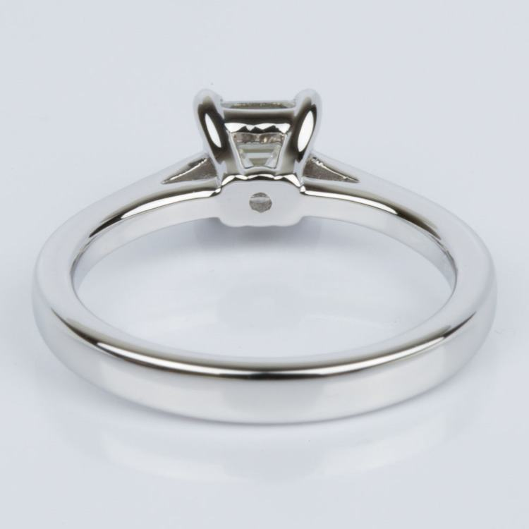 Petite Cathedral Asscher Engagement Ring in White Gold (0.70 ct.) angle 4