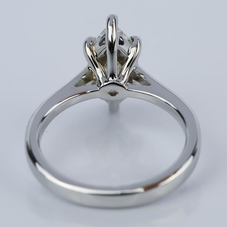Petite Cathedral Marquise Diamond Engagement Ring (1.41 ct.) angle 4