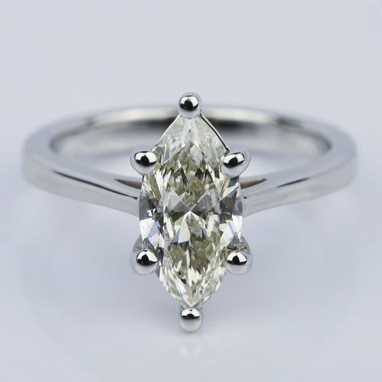 Petite Cathedral Marquise Diamond Engagement Ring (1.41 ct.)