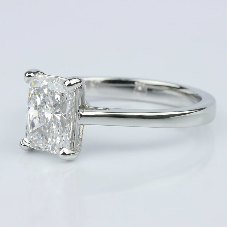 Petite Cathedral Radiant Solitaire Engagement Ring (1.60 ct.) angle 2